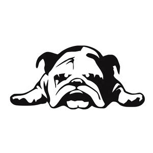 ENGLISH BULLDOG TIRED PUPPY DOG Pattern Car Window Sticker