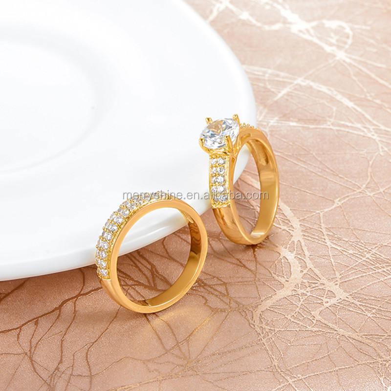 High Quality Ring Wholesale 18k Gold Cz Diamond Rings Women Wedding ...