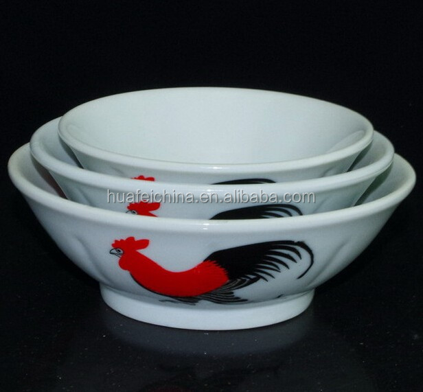 white ceramic rooster bowl, porcelain rooster bowl