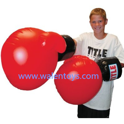 Kids Plastic Inflatable Huge Boxing Gloves/giant boxing gloves