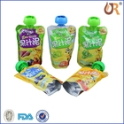 food grade plastic spout pouch for liquid beverage filled by manual or machine