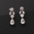 Luxury bridal wedding party earrings necklace sparkle set all zircon wedding gown dinner gown jewelry set  S10019