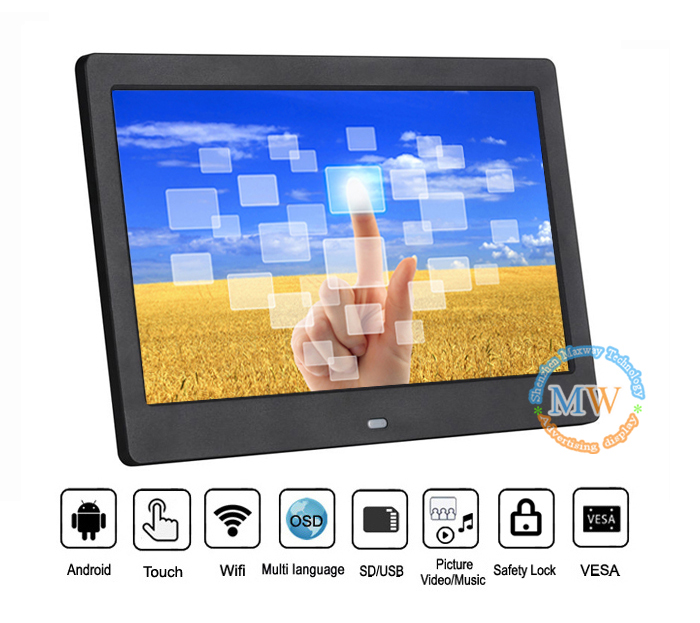 10 Inch Android Wifi Capacitive Touch Screen Digital Picture Frame With Wifi Picasa
