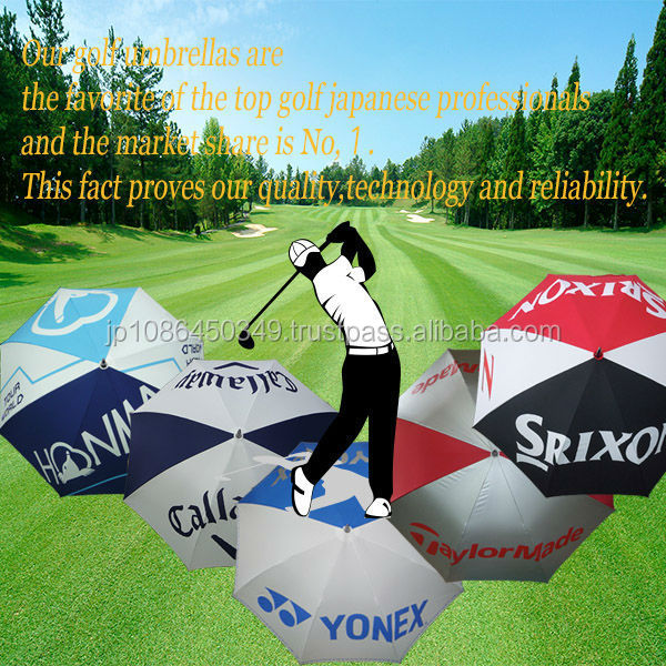 Reliable all-carbon frame golf umbrellas for parasol made in Japan