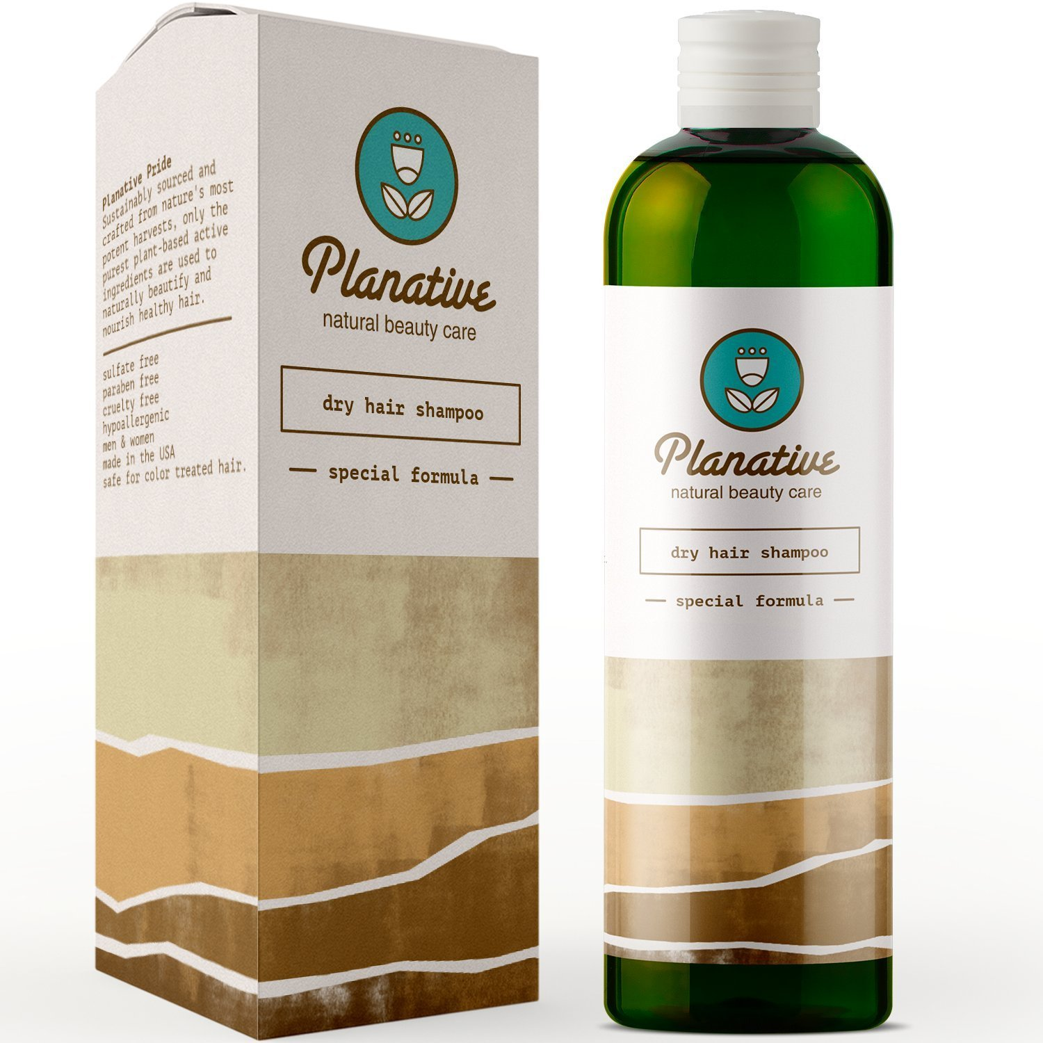 Shampoo For Dry Hair and Scalp Pure Nourishing Oils; Jojoba + Almond + Carrot + Parsley Seed + Lavender Essential Oil Hydrating Natural Hair Care Sulfate Free Treatment for Soft Healthy Beautiful Hair