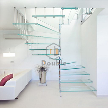 Staircase Stainless Steel Posts Stairs Grill Design Glass Square Spiral  Staircase