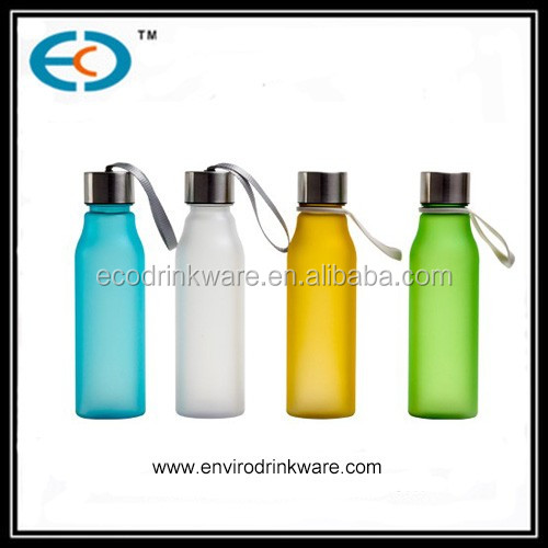 400ml transparent tritan water bottles with string