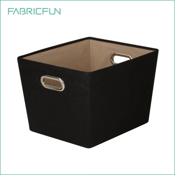 Decorative Storage Bins Fabric Cubes With Handle For Nursery Kids