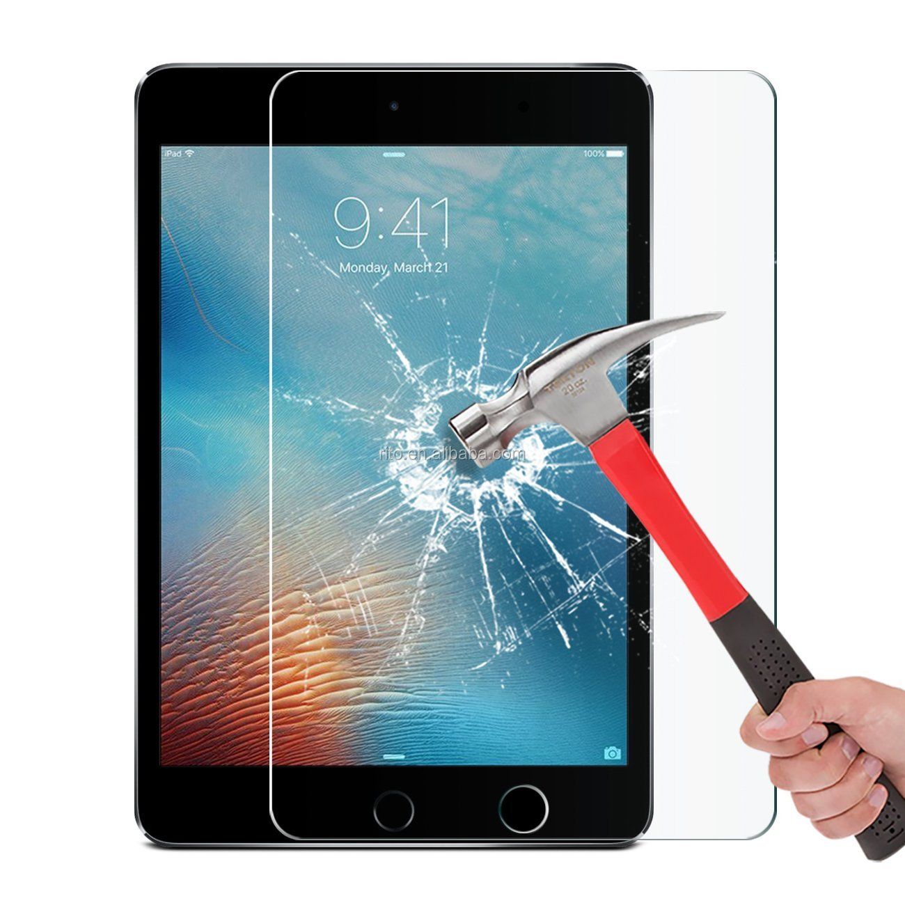 Tempered Glass Screen Protector for iPad Mini / iPad Mini 2 / iPad Mini 3, Anti-Scratch