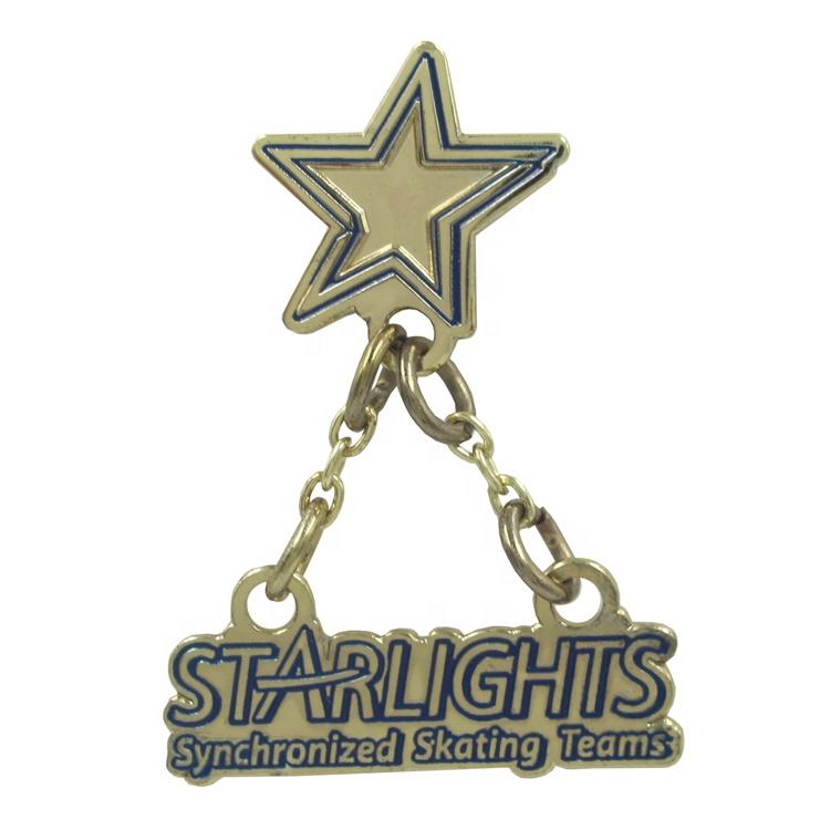 New Design Enamel Pin Set Brooches Cute Funny holographic Star Trek performer Badge