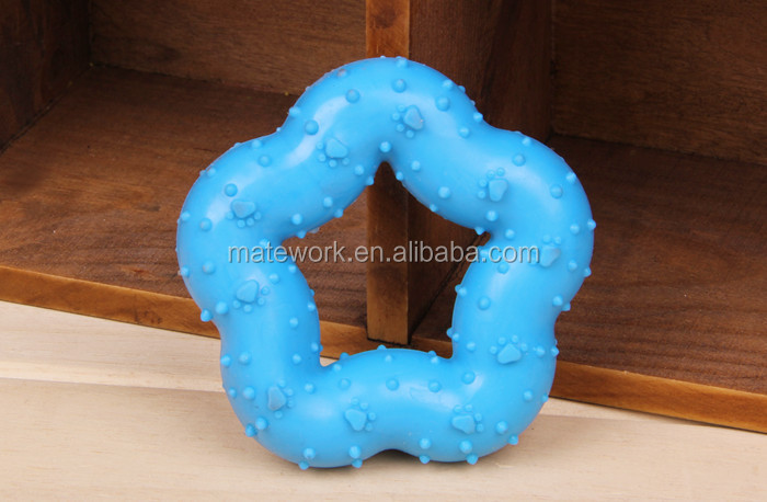Pet toy rubber star