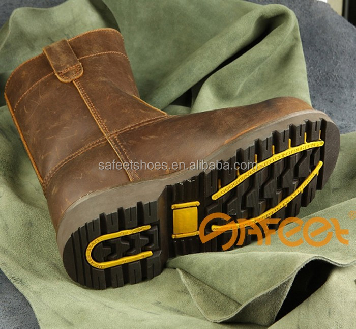 Good-selling High Ankle Goodyear Welted Acid Resistant Work Boots ...