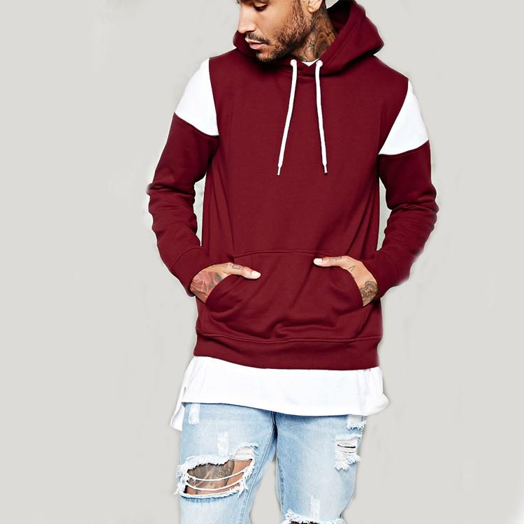 Wholesale Streetwear Men Clothing Jumper White Insert Shoulder Panel ...