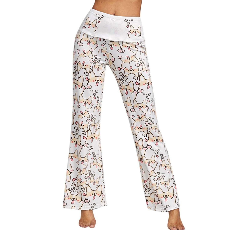 ed31c5840d830 Get Quotations · Hometom Palazzo Pants, Women Casual High Waist Elasticity Wide  Leg Palazzo Pants Trousers