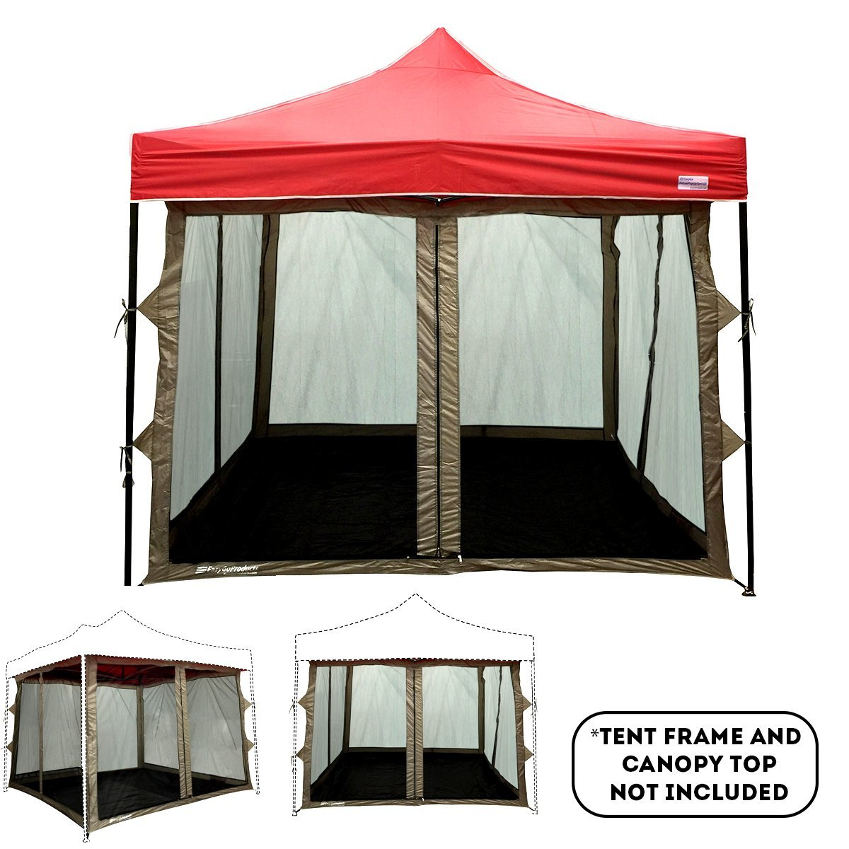 Screen Room Attaches To Any 10 X10 Easy Up Pop Tent