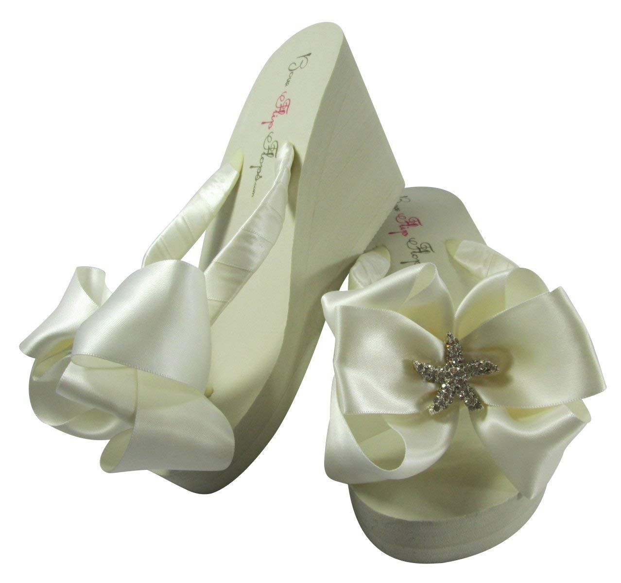 9f3d8c9cff76bd Get Quotations · Flip Flops for Brides