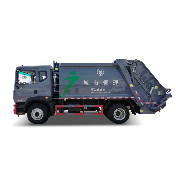 China Dongfeng 12cbm 8 t vuilnis compactor truck in zuid-afrika
