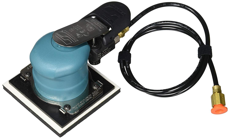 "Dynabrade 57923 4"" W x 4-1/2"" L (102mm x 114mm) Dynabug""Model T"" Orbital Sander, Non-Vacuum, 20000 rpm, 3/32"" (2mm) Dia. Orbit, Rear Exhaust, Hook-Face Pad"