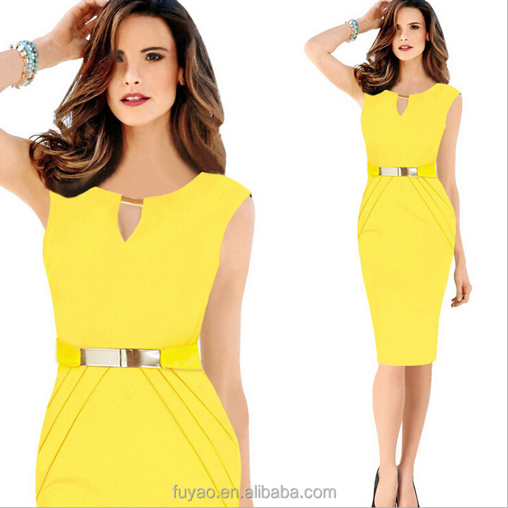37c48449e94 Fashion Dress Plus Sizes Yellow Cocktail Dress