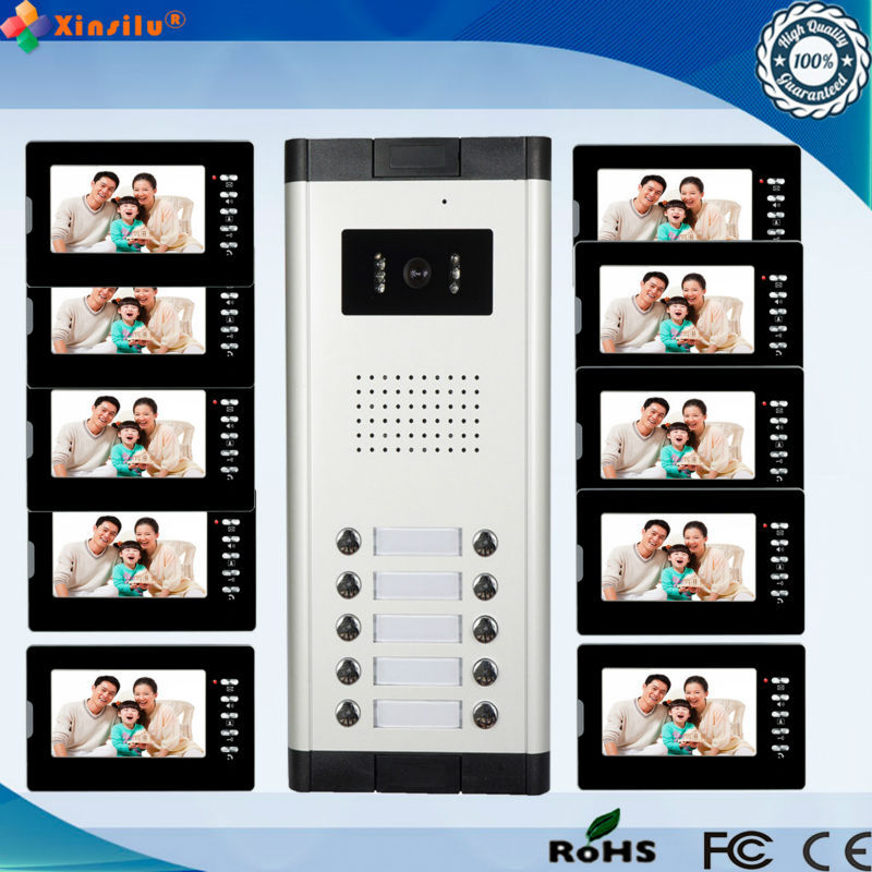 Multi-unit video intercom system video doorphone wired doorbell with camera