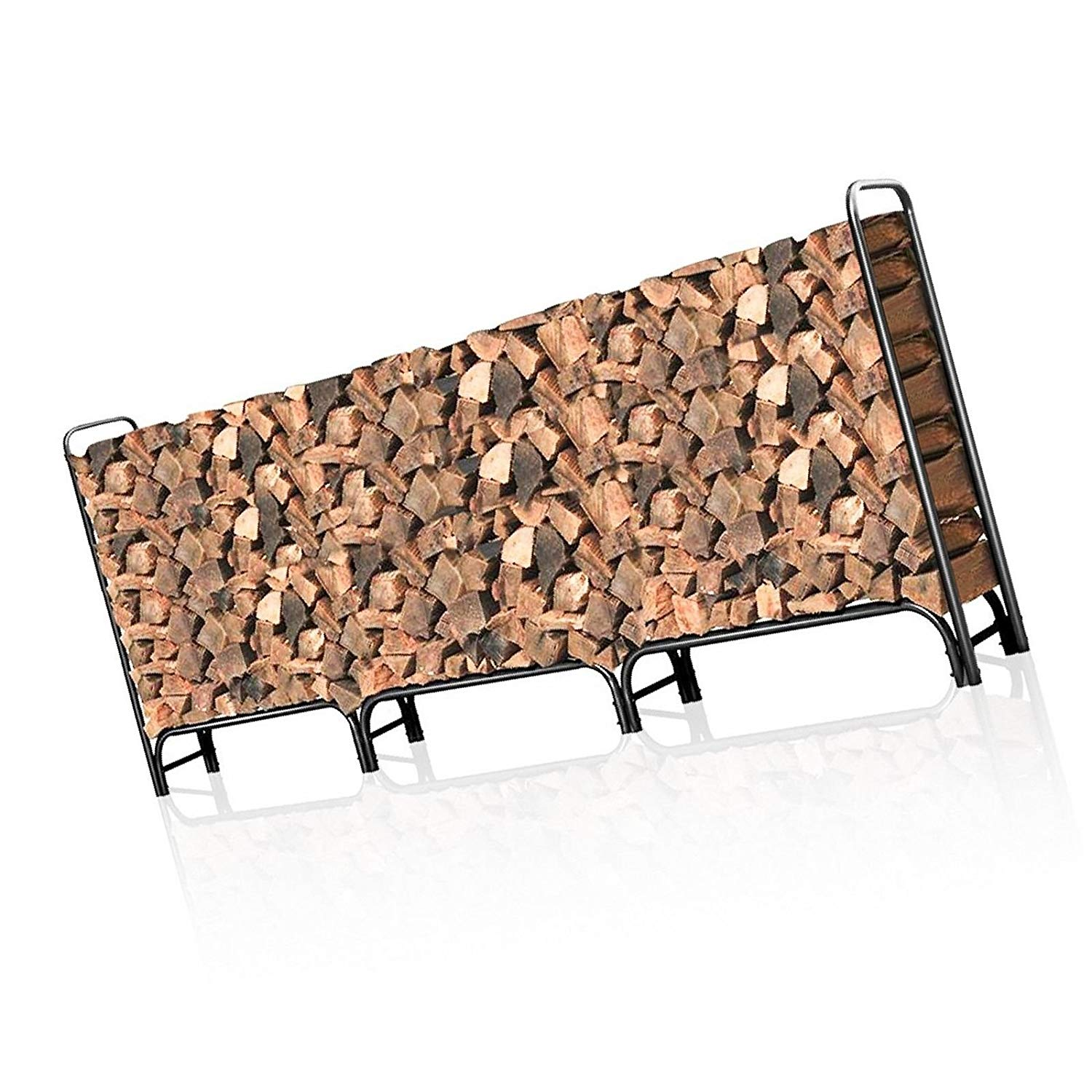 Moon_Daughter Farmhouse 12ft Storage Log Rack Firewood Pile Heavy Duty Firewood for Fireplace Outdoor Barn
