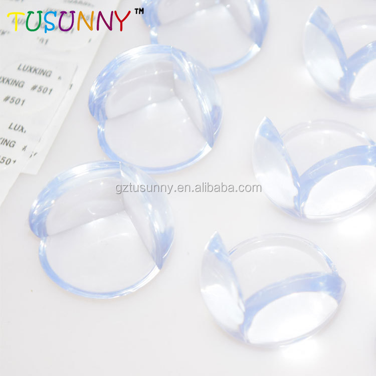 best selling kids safety clear transparent PVC table desk corner guard strong adhesive tape baby proofing corner guards