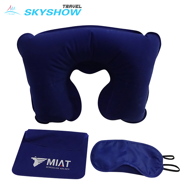 Low Price Eu Standard Travel Pillow And Eye Mask