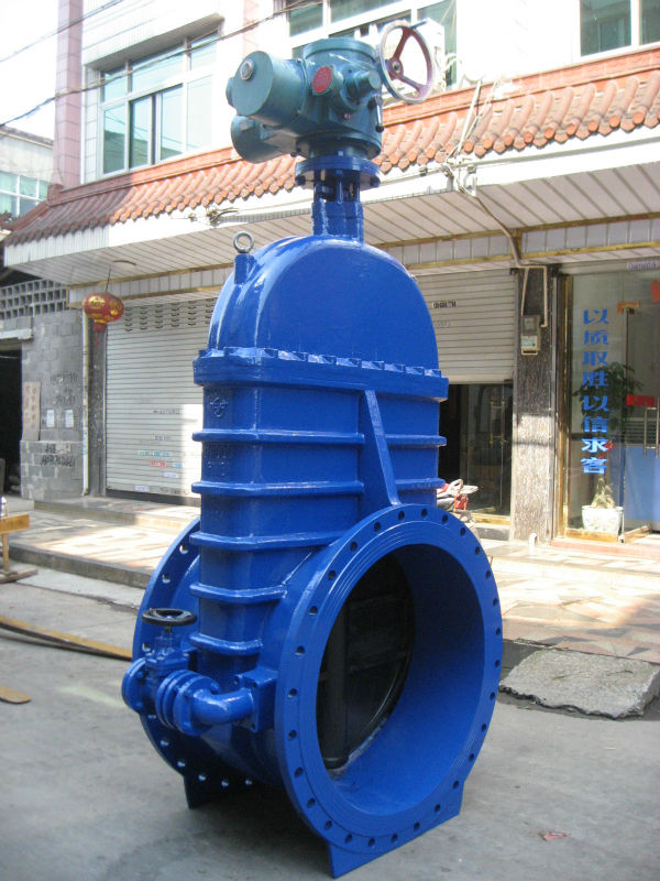 Motor Operated Gate Valve Dn1000 40 Inch Pn10 With Bypass