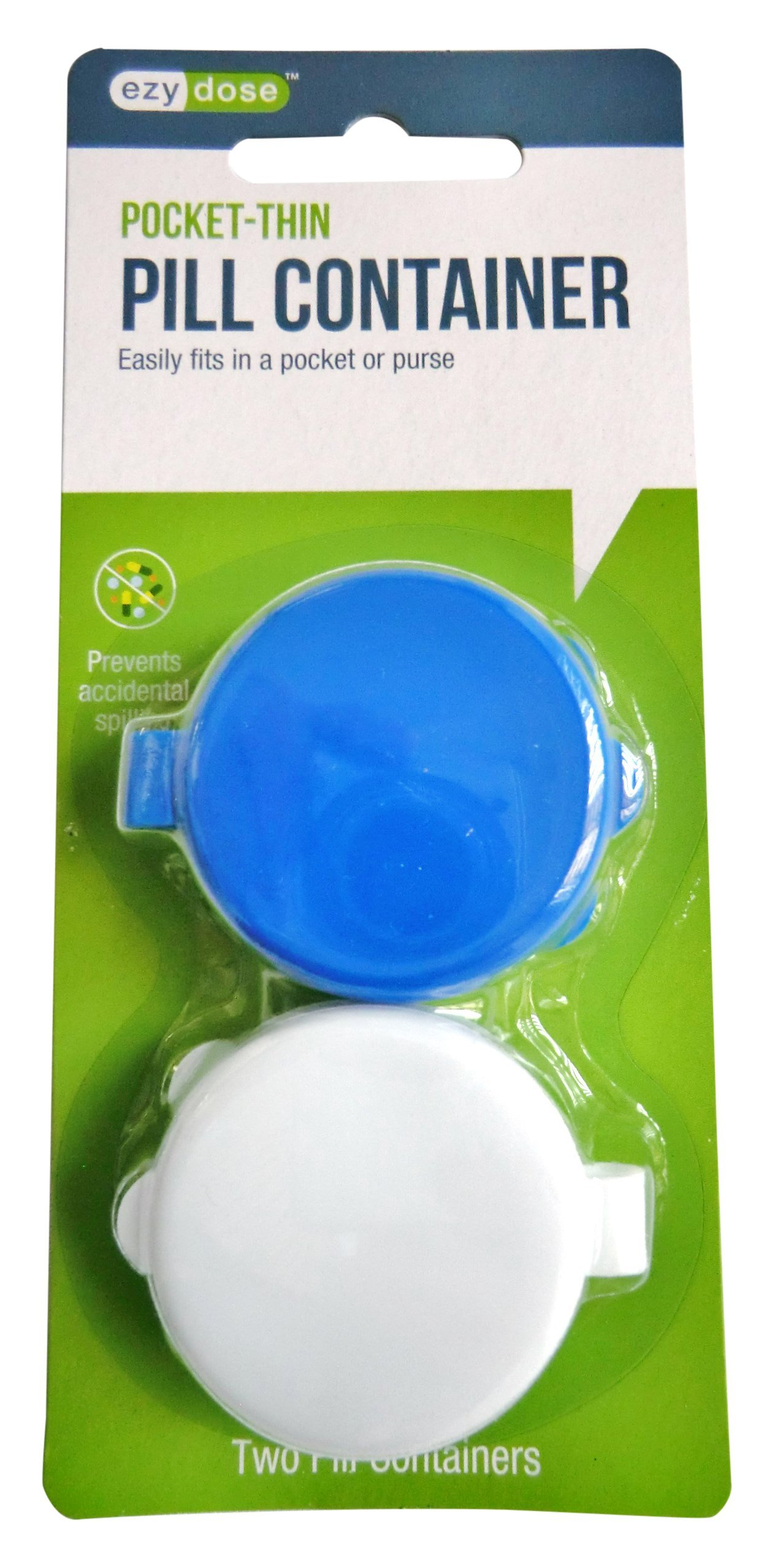 Ezy Dose Portable Pill Container (2 count) - assorted colors