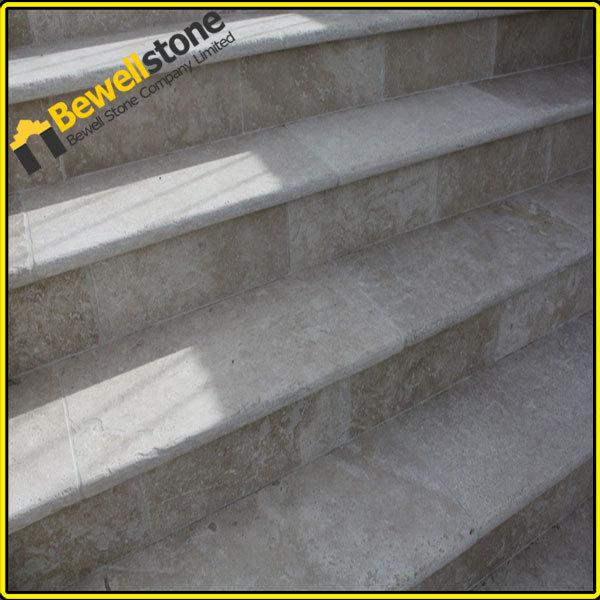 Wholesale Marble Tile Stair Nosing, Beige Travertine Tile Marble Stair