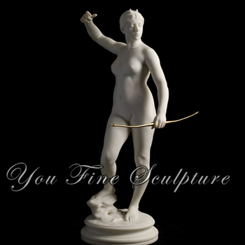 Life Size Marble Western Roman Nude Woman Statue