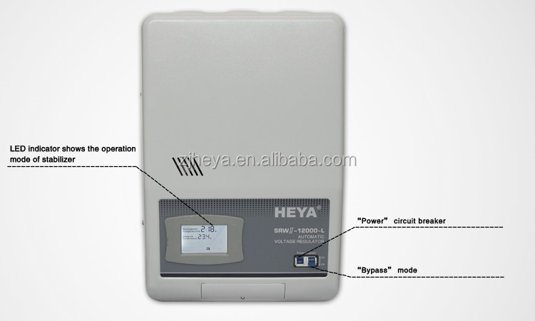 Voltage Relay Controller 4KVA 3KW Power Voltage Stabilizer