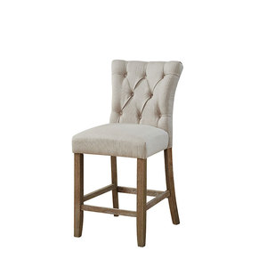 Fashion Style Patchwork High Back Studded French Style Dining Chair