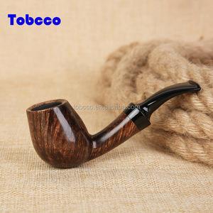 China Factory Cheaper Briar Mini wood Pipe Bent Stem Sets Smoking Pipe parts