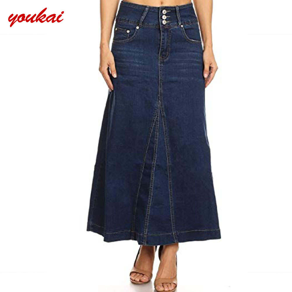 dab9db33d8e Wholesale Direct Factory Long Jean Skirts Maxi Skirt For Women ...