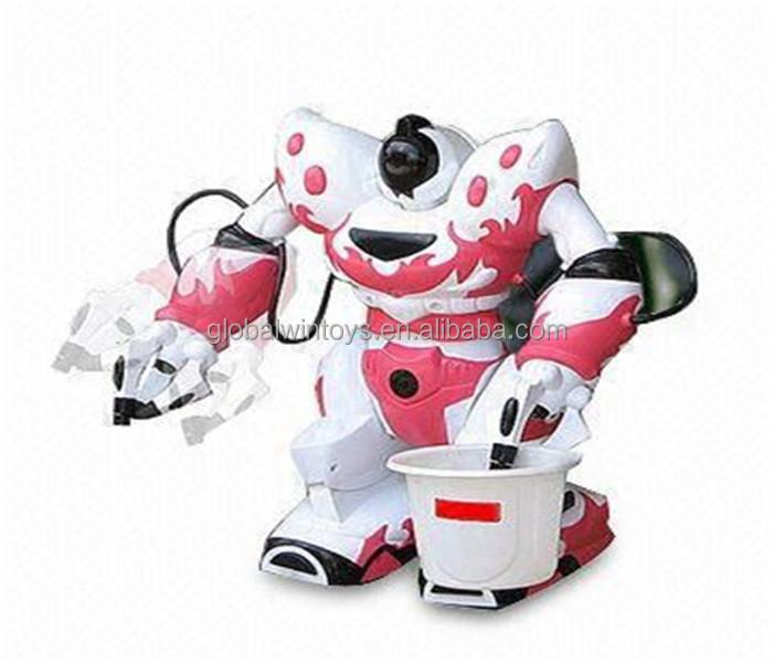 increble programable infrarrojo rc juguetes robot de juguete con el transmisor y el cubo