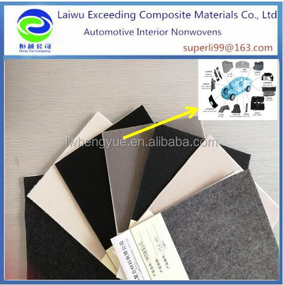 100% recycle eco polyester needle felt sound absorbing textile
