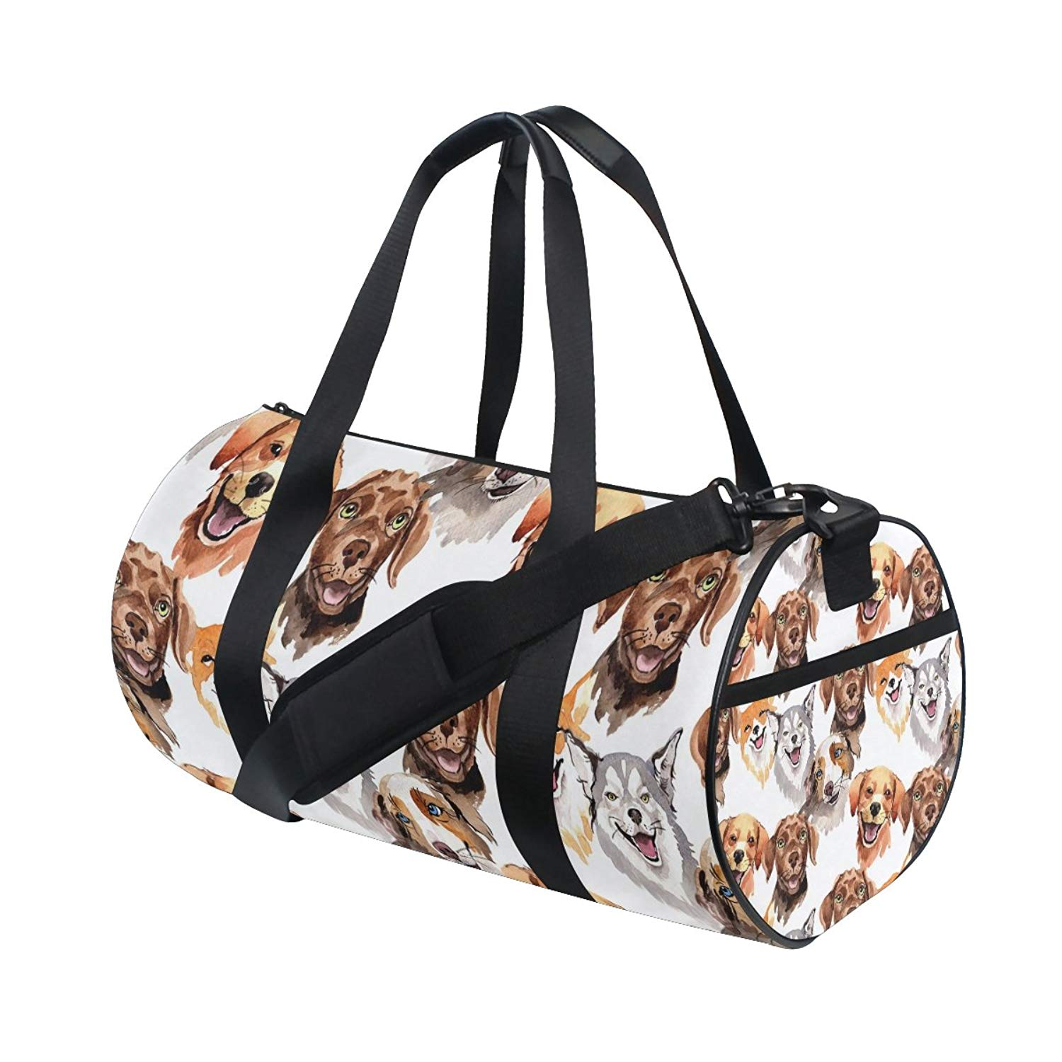 Get Quotations · Gym Duffel Bag Watercolor Dog Sports Lightweight Canvas  Travel Luggage Bag 4d6aca22c43d4