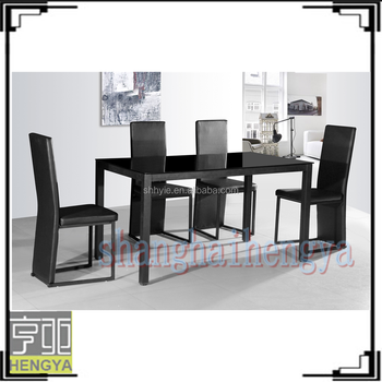 6 Seaters Black Glass Dining Tables And Chairs Buy Glass Dining
