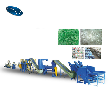 3 tons capacity Customized plastic PET bottle flake washing recycling drying machine production line