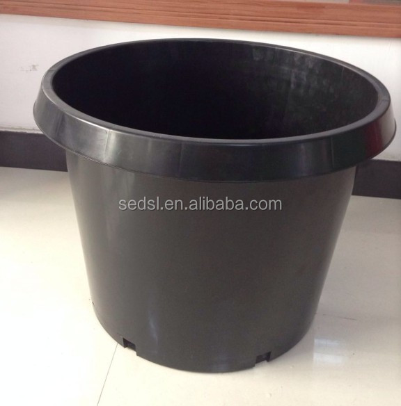 Made in China pp material black 25 gallon nursery pots
