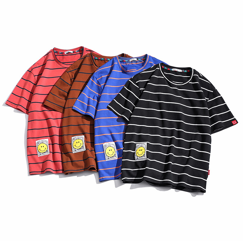 custom <strong>clothing</strong> <strong>manufacturers</strong> men bulk oversized striped t shirt