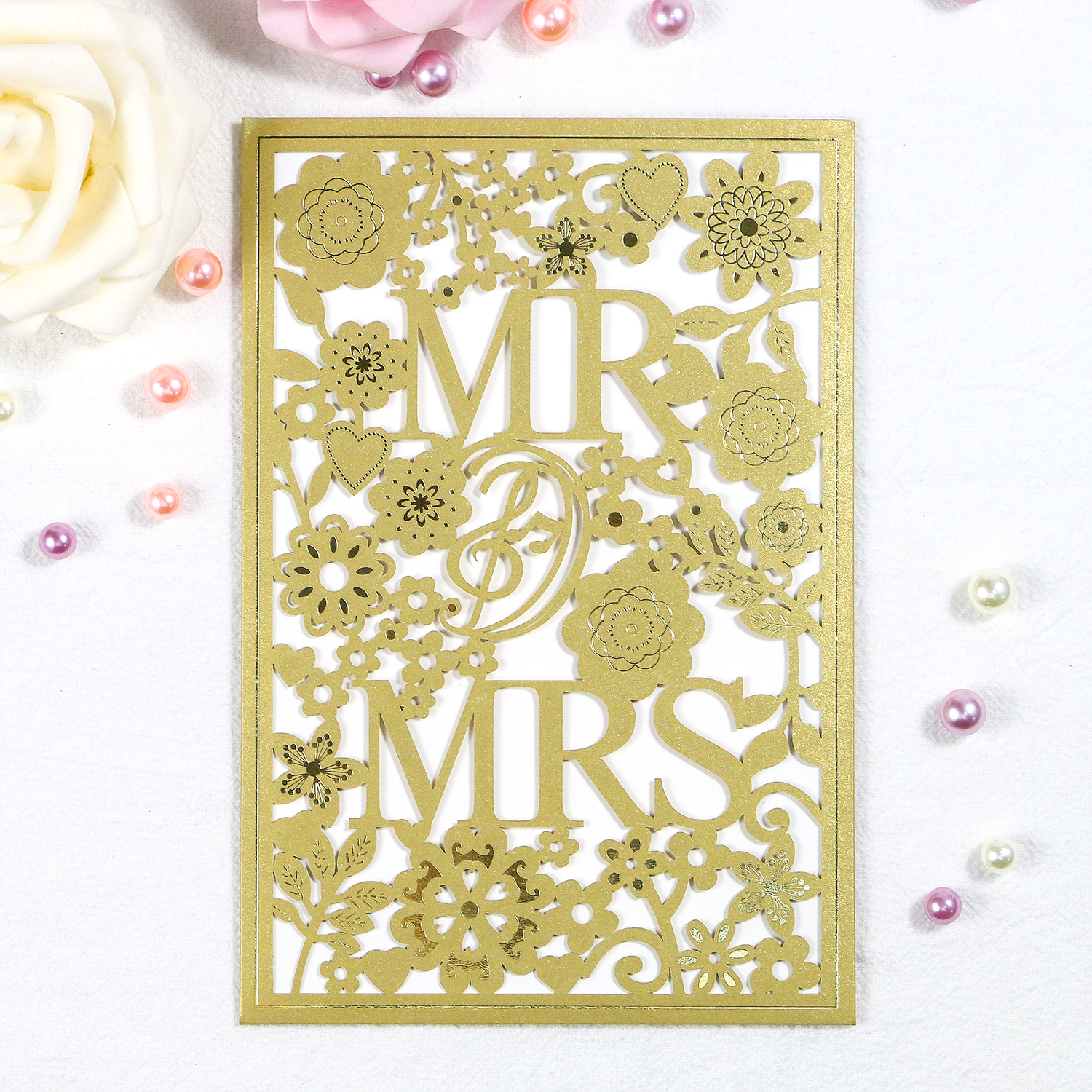 Dark Gold <strong>Wedding</strong> <strong>Invitation</strong> Cards Elegant <strong>Luxury</strong> Hot stamping <strong>Invitation</strong> Pocket Envelope Set Party <strong>Wedding</strong> <strong>Invitation</strong> Supplies