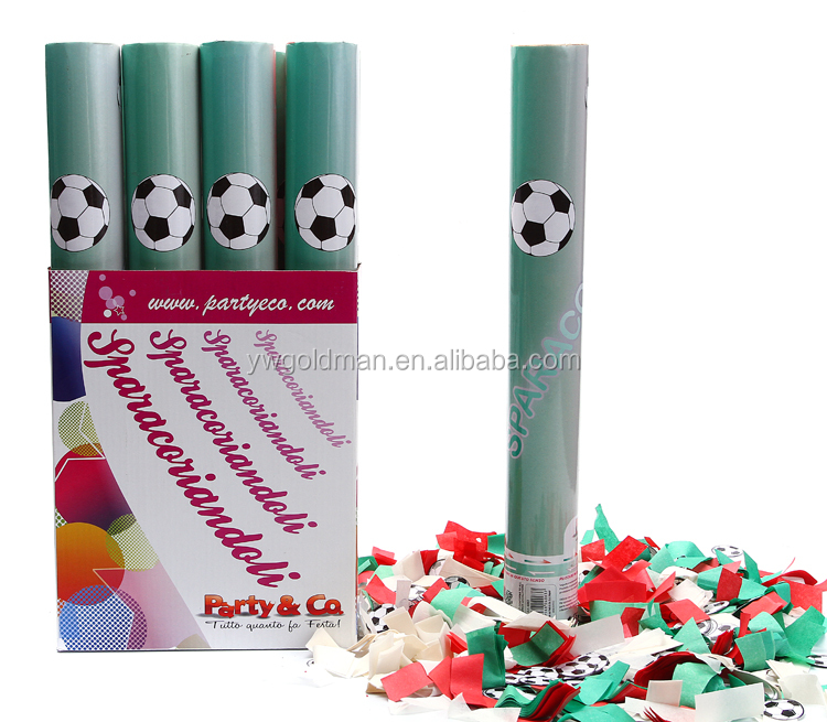 Party popper with football compressed air confetti wedding confetti shooter