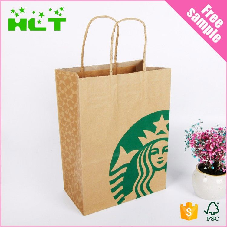 Cheap Brown Kraft Paper Bag Takeaway food packaging paper bags with window