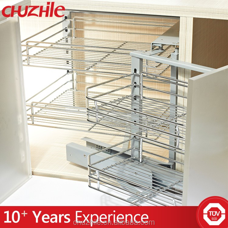 ChuZhiLe morden good quanlity swing out magic corners storage shelf