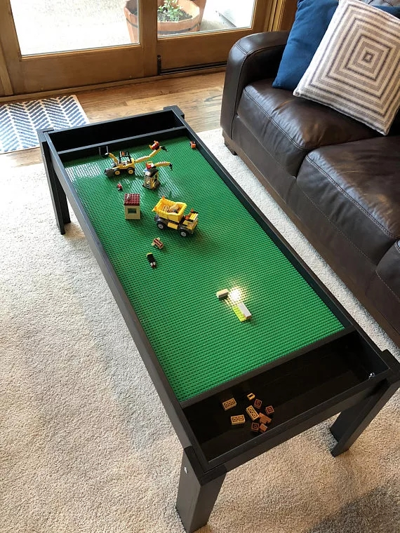 Kids Furniture Lego Table With Toy Storage Children Study