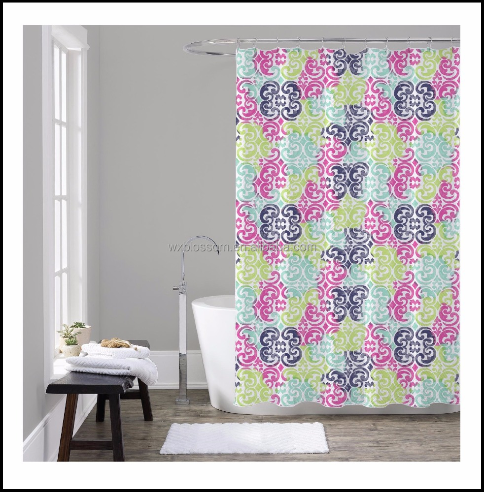 Unique Collection Polyester Lilly Pulitzer Shower Curtain
