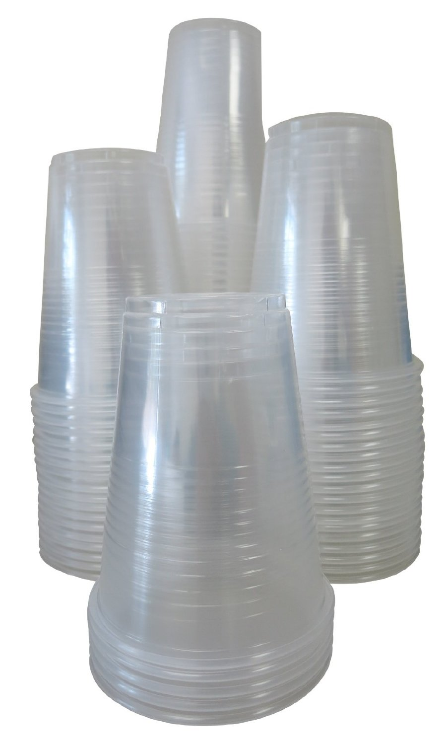 New Free Shippin Settings 9oz Clear Plastic Disposable Cups 80 Count Pack Of 3