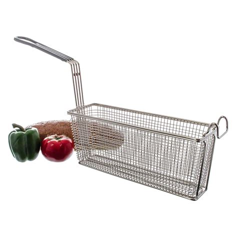 Kitchen square colander strainer iron steel wire deep frying basket french fry basket
